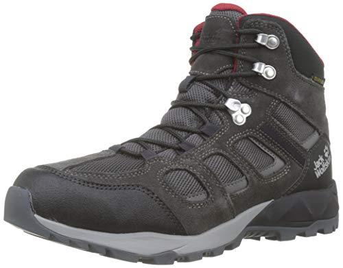 Jack Wolfskin Herren Vojo Hike XT Texapore MID M Wasserdicht Trekking-& Wanderstiefel, Grau (Phantom/Red 6360), 45.5 EU