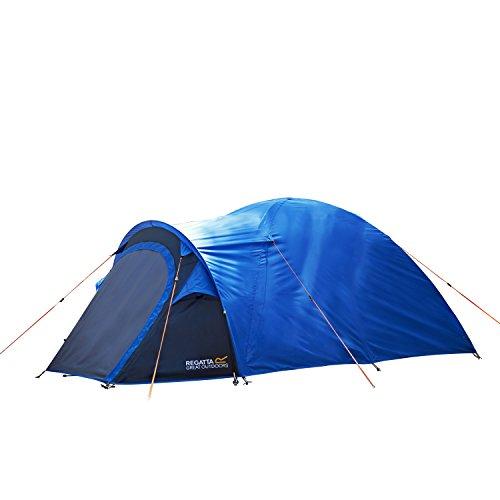 Regatta Kivu V2 leichtes Camping- und Wanderzelt, Kuppelzelt, Unisex, RCE163, Oxford Blue/Seal Grey, Für 2 Personen