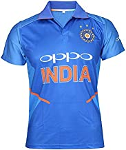 KD Team India ODI Cricket Supporter New Oppo Jersey 2019-20 Kids to Adult(H/S Plain,42)