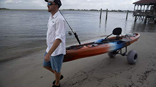 "Wilderness Systems Heavy Duty Kayak Cart | Inflatable Beach Wheels | 330 Lb Weight Rating | for Kayaks and Canoes, Model… 6 Paddling magazine's 2018 winner in the ""best transport/storage/launching' category Engineered to transport the heaviest kayaks - up to 330 pounds Easy to load and unload the kayak – no kickstands or scupper posts required"
