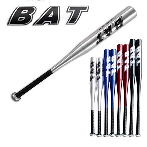 Shenghuajie Baseball-Stick aus Aluminiumlegierung, dicke Abwehrwaffe, fahrzeugmontierter Stahlstab, silber, 61 cm (24 Zoll)