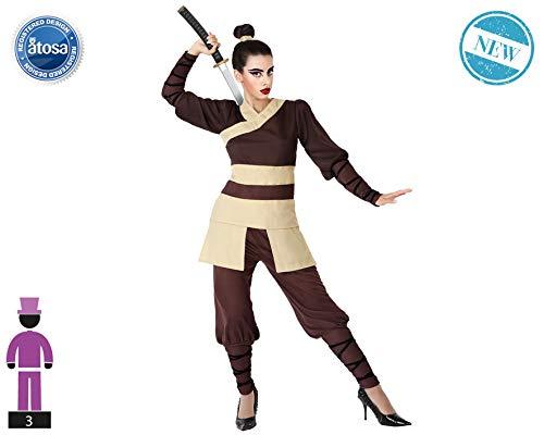 Atosa 66092 Disfraz Guerrera China M-L Mujer Marrón
