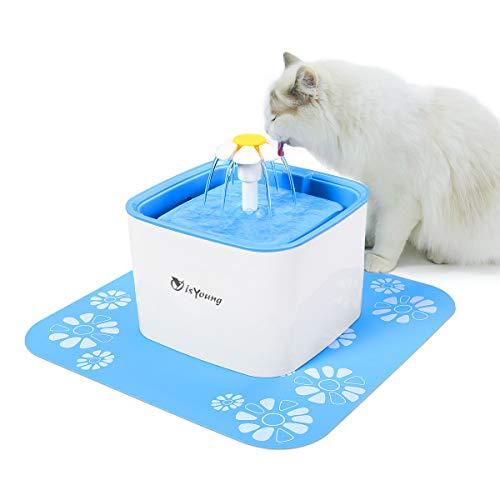 isYoung Blumentrinkbrunnen 2.5 Liter für Katzen und kleine Hunde