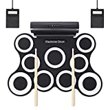 LXWM 9 Drums Hand Roll Electronic Drums Drums Drums Playing Computer Games Percussion,White