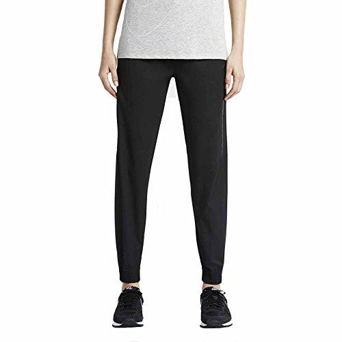 Nike Womens Bonded Woven Sport Casual Pants-Black-Large