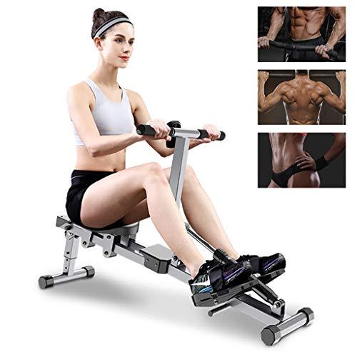 DFANCE Rudergeräte für Zuhause Klappbar, Silent Fitness Rower mit 12 Stufen Einstellbarem Widerstand und LCD-Monitor, Indoor-Cardio-Trainingsgerät