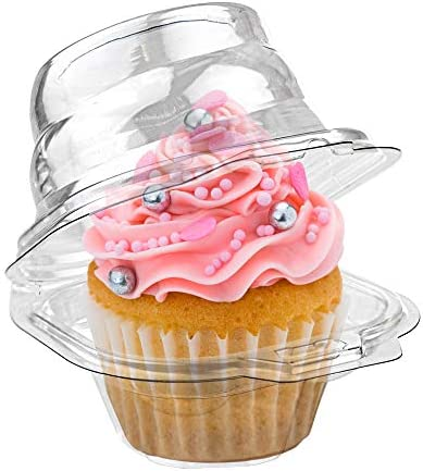 Stock Your Home Individual Plastic Cupcake Containers 100 Count Single Cupcake Containers Plastic product image