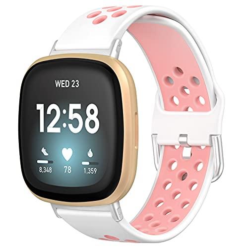 Dasbulk Compatible para Correa Fitbit Versa 3 / Fitbit Sense, Correa de silicona suave Reemplazo pulsera para Fitbit Versa 3 / Fitbit Sense