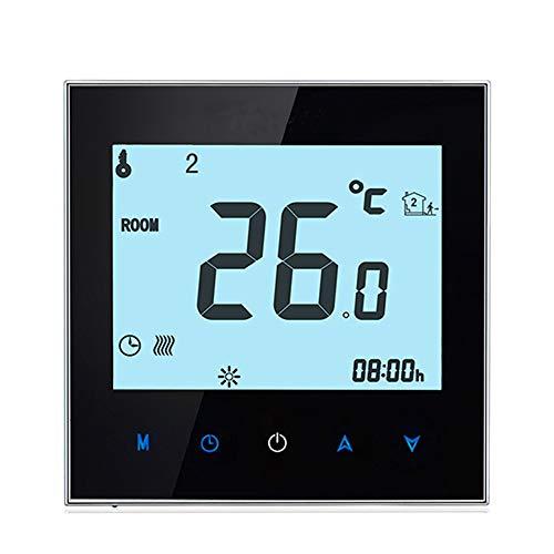 WiFi Termostato programable KKmoon Termostato inteligente caldera de agua/gas pantalla táctil solo calor App control de voz para reemplazo de 95-240V para Amazon Echo Google Home Tmall Genie