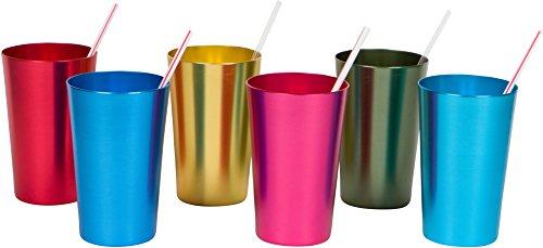 Trademark Innovations - Vasos de aluminio (570 ml), varios colores