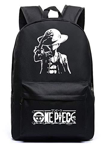 Siawasey Anime One Piece Cosplay Luminoso portátil Bolsa Bookbag Mochila Bolso de Escuela 4