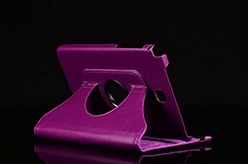 Tasche für Samsung Galaxy Tab A SM-T550 T551 T555 9.7 Zoll Schutz Hülle Flip Tablet Cover Case (Lila) NEU