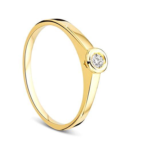 Orovi   9 k (375)  oro blanco 9 quilates (375) corte brillante redondo   blanco diamante