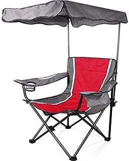 Decoración hogareña Silla de Camping Muebles Silla Plegable Silla Plegable Silla de Pesca Silla de Playa con sombrilla Cadeira de Praia Katlan □ R Sandalye Rojo