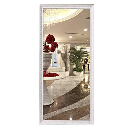 Household Necessities/verblijf, volledige lengte, spiegel voor dames, spiegels, wit massief hout, spiegel, kan aan de muur worden gemonteerd, groot 50CM*150CM Wit
