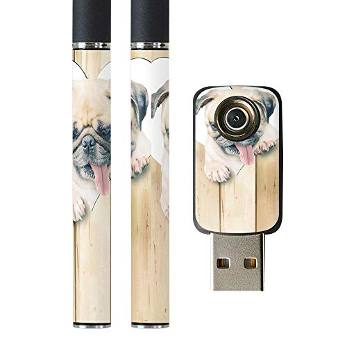 igsticker プルームテック Ploom TECH 専用スキンシール バッテリー スティック USB充電器 カバー ケース 保護 フィルム ステッカー スマコレ 013529 犬 パグ ハート