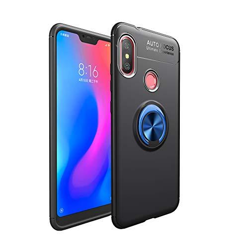 Funda Xiaomi Mi A2 Lite Teléfono Móvil Silicona Bumper Case Funda con Anillo Giratorio de 360 Grados Rotaria Ring Holder Protectora Caso (6, Xiaomi Mi A2 Lite)