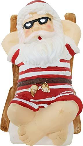 Voss Kerstman set figuur kerstman Santa Clause in zwembroek Kerstman ligstoel