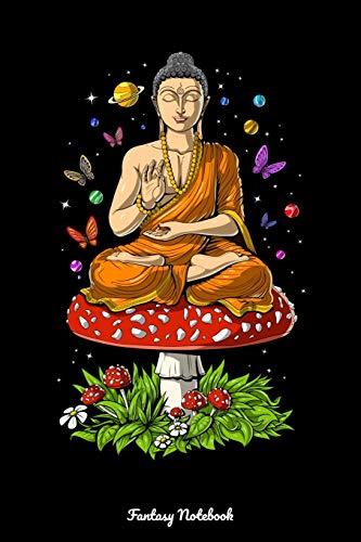 Fantasy Notebook: Magic Mushroom Buddha Notebook