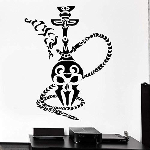 Etiqueta De La Pared De La Cachimba De La Sala De Estar De La Cachimba Fumar Café Árabe Vinilo Pared Calcomanía Dormitorio Humo Diseño De Interiores De La Casa Europea Regalo 48X63Cm