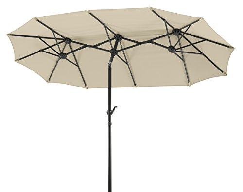 Schneider 746-02 Salerno Parasol Rectangular, Natural, 300 x 150 cm