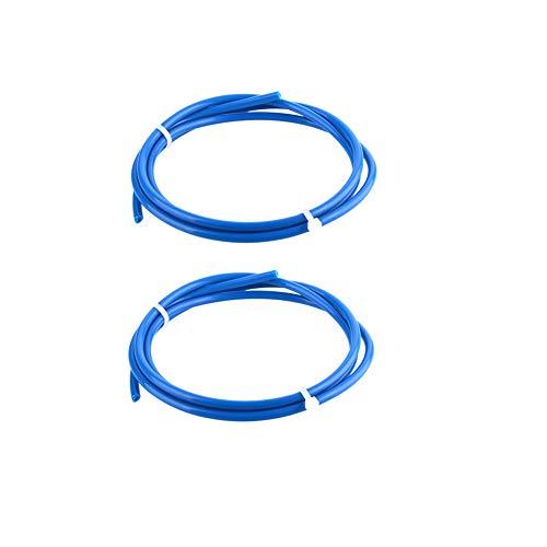 S SIENOC 2 x 1M PTFE Teflon Tube 2mm ID 4mm OD Für 1.75mm Filament 3D Drucker Blau