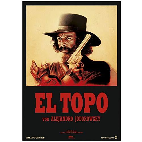 Sanwooden EL Topo Film Europäische Version Alejandro Jodorowsky Poster Dekorative Malerei Für Wohnzimmer Dekor Geschenk Druck Auf Leinwand -50x70cm Kein Rahmen