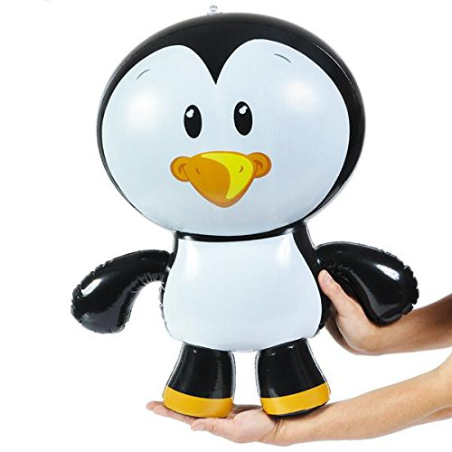 German-Trendseller® - Pingouin Gonflable ┃Party Animal ┃60 cm ┃ l'anniversaire d'enfant ┃Jeu de Piscine