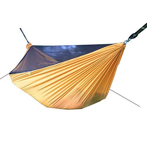 ZJXHAO Double hamac-léger Parachute Portable hamacs pour la randonnée, Voyage, Backpacking, Plage, Yard Gear Comprend Sangles en Nylon et mousquet en Acier