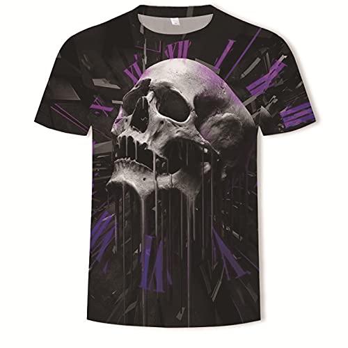 EMPERSTAR Esqueleto Disfraz de Halloween Camiseta de Calavera Traje para Padres e Hijos 2XL