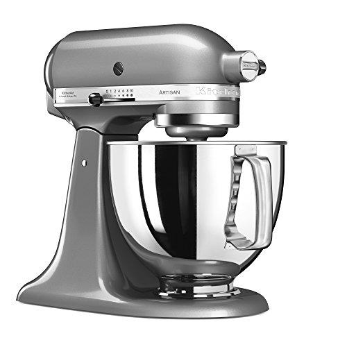 KitchenAid 144281 Robot de Cocina, 300 W, 4.8 litros, 52 Decibelios, Medaillesilber