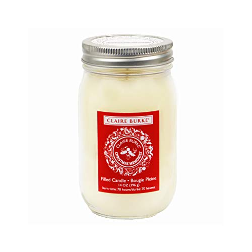 Claire Burke Christmas Memories Candle Holiday Fragrance 70-hour burn time 14 oz, 1 ct