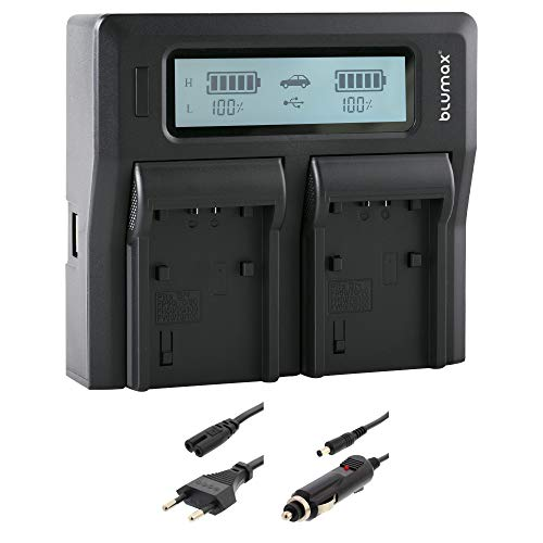 Doppelladegerät NP-FV100 Dual Charger | passend zu diversen Sony Kameramodellen || 2 Akkus gleichzeitig Laden