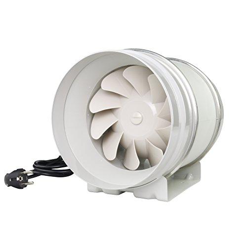 Rohrventilator Rohrlüfter Zusatzlüfter Durchmesser 200 mm Absaug Ansaug Gebläse Industrie Zuluft Abluft Ventilation 2 Stufen