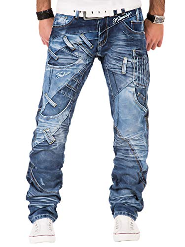Kosmo Lupo Herren Jeans Hose Blau KM130 W32/L32