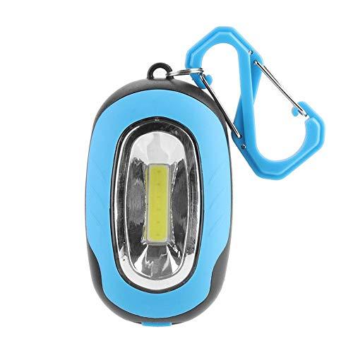 Lámpara Impermeable Carpa Linterna Luces de Advertencia de Seguridad Linterna de Brillo Fuerte Linterna COB Amantes del Ciclismo y la Pesca(Blue)