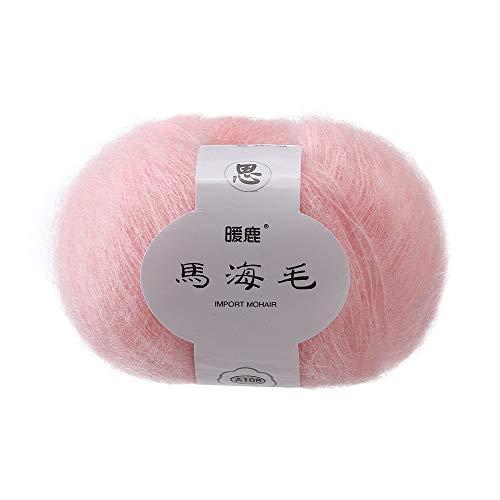 FeiliandaJJ 25g Wolle Zum Stricken & Häkeln Handstrickgarn,Mohair,Wollgarn Perfekt für Hüte Pullover Schal Decke Strickprojekt- 14 Farben (D)