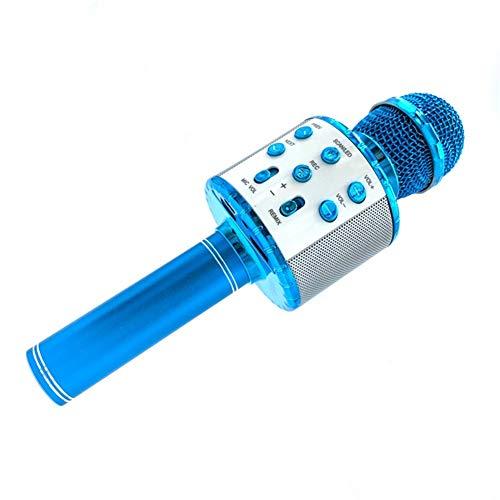 BAIZAN Micrófono Bluetooth, Viene con Activado por Voz En Cualquier Momento Juego De Luces LED del Altavoz del Jugador Mágico Cambiador De La Voz,c