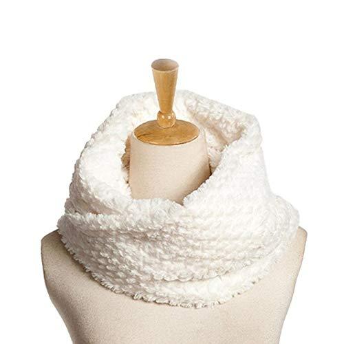 WNFDH sjaal Faux Fur Winter Sjaals Warmer Infinity Cowl Circle Loop Sjaal Vrouwelijke Bont Kraag Zachte Winter Sjaals