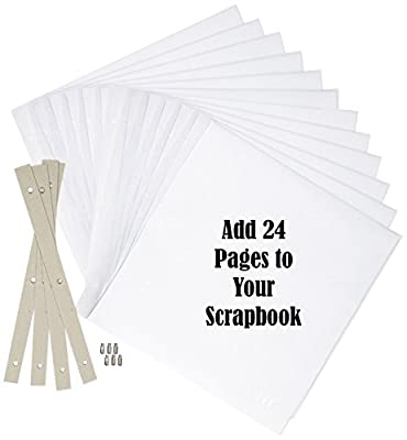 kedudes Most Durable Scrapbook Expansion Pages 12-Inch by 12-Inch, - 12 Sheet Count, 24 Pages