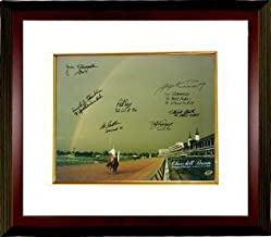 Spend the Buck Autographed Signed Churchill Downs Kentucky Derby Winners 1985 Horse Racing Rainbow 16x20 Photo 7 signatures Deluxe Custom Deluxe Framed - Certified Authentic
