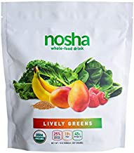 NOSHA Lively Greens | Kale & Spinach Smoothie Powder | 100% Freeze-dried | Organic, Plant-based, Whole Foods | Made with Mango, Banana & Strawberry
