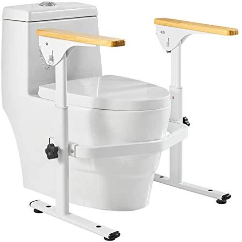 YANWE Sicherheitsgestelle für Toiletten, Verstellbarer Höhe Toilettengestell WC-Aufstehhilfe, Badezimmer Toiletten Sicherheits Haltestange,für Senioren und Deaktiviert