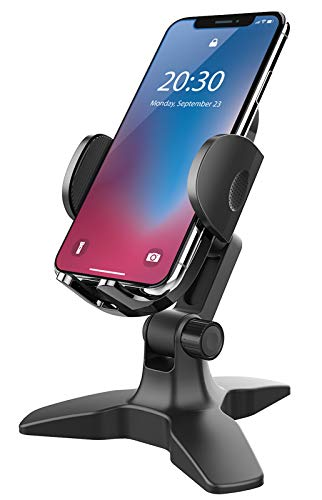 Adjustable Cell Phone Stand, Phone Stand for Desk, Heavy Duty Phone Holder Cradle with 360 Degree, Home Office Accessories, Desktop Phone Holder Dock Desk Stand for iPhone, All Smartphones