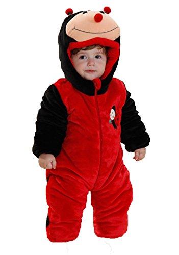 OHmais Bébé Fille garçon Unisexe Grenouillère Costume Deguisement Combinaison Pyjamas Hiver Coccinelle