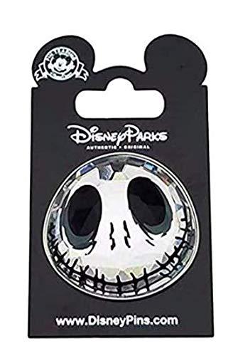 Disney Parks Exclusive Nightmare Before Christmas Jack Skellington 1.5' Glass Trading Pin (Head/Face) Disneyland/Disney World