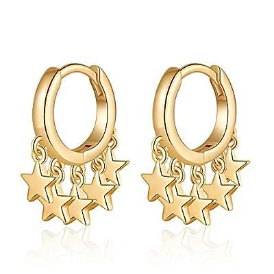 S925 Sterling Silver Post Huggie Earrings, 14K ...