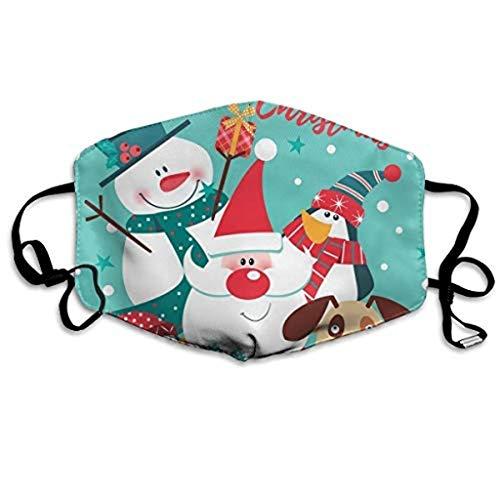 Sannysis Mundschutz Waschbar mit Weihnachten Motiv Bandana Lustige Multifunktionstuch Herren Damen Mund und Nasenschutz Staubdicht Motorrad Halstuch (B)