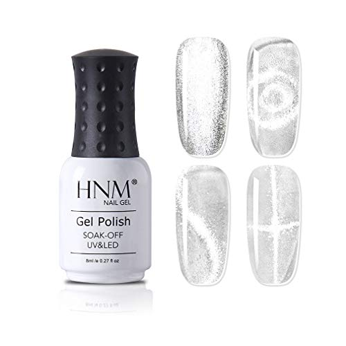 HNM Katzenaugen-Effekt UV Gellack Nagellack Nail Design Nail Polish Magnet UV LED Nagellack UV, Crystal Snowlight Cat Eye Gel Polish 8ml JSXGMY-41001