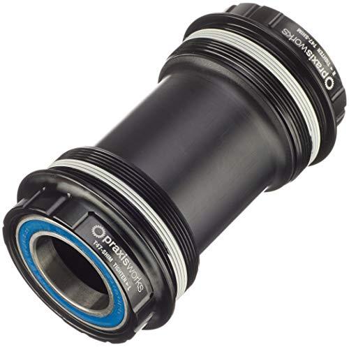 PRAXIS PEDALIER CONVERSOR 68/73mm SHMN T47 (Road/MTN) External Bearing 47-3001, Adultos Unisex, Negro, Estandar